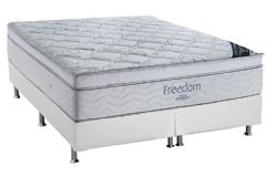 Conjunto Box: Colchão SuperPocket Freedom Ortobom  + Cama Couríno White